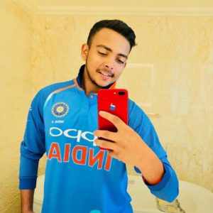 22ee8b9342751 Prithvi Shaw New Sensational in Indian Cricket - HitBrother